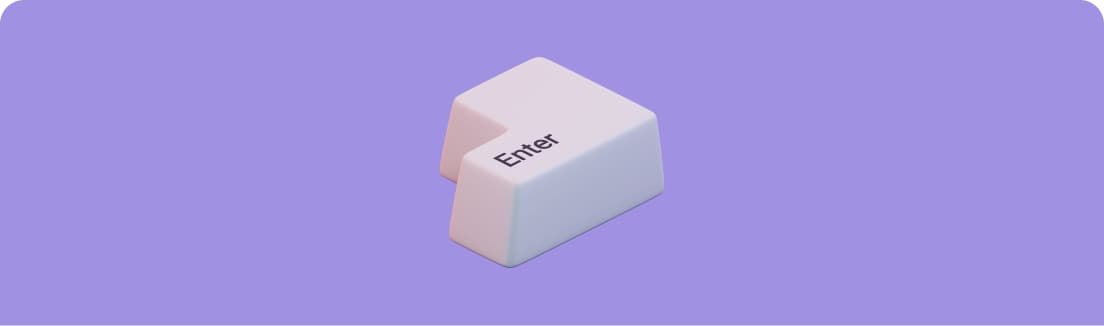 An enter key on its own